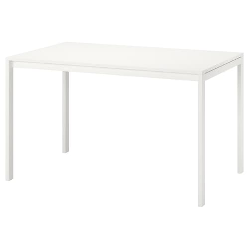 MELLTORP Table, white, 125x75 cm