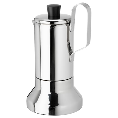 METALLISK Espresso maker for hob, stainless steel, 0.4 l
