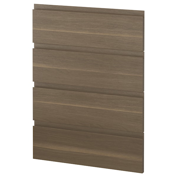 METOD 4 fronts for dishwasher Voxtorp walnut 60.0 cm 88.0 cm 80.0 cm 2.2 cm