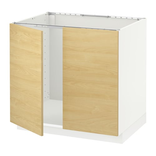 Metod Base Cabinet For Sink 2 Doors White Tingsryd