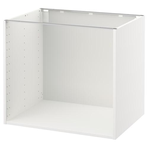 METOD Base cabinet frame, white, 80x60x70 cm