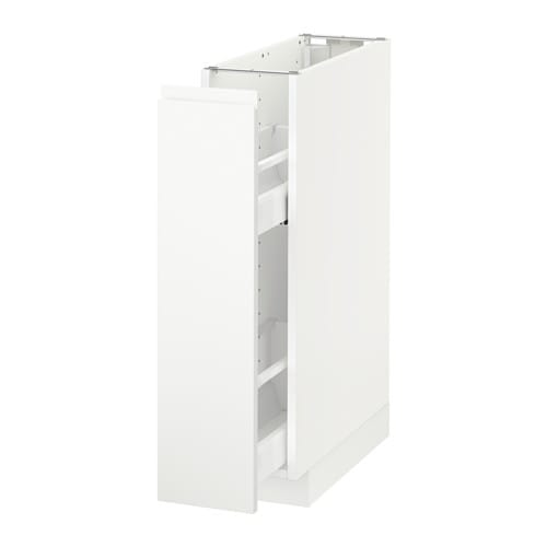 Metod Base Cabinetpull Out Int Fittings Voxtorp Matt White