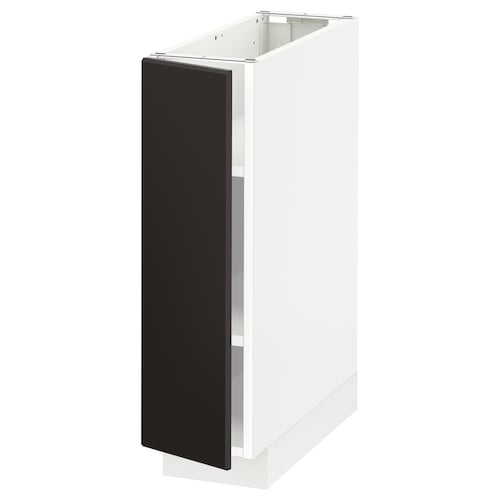 METOD base cabinet with shelves white/Kungsbacka anthracite 20 cm 60 cm 61.8 cm 70 cm