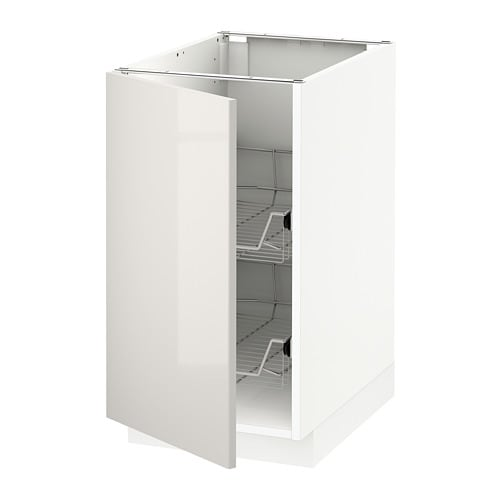 Ringhult Grey Kitchen: METOD Base Cabinet With Wire Baskets