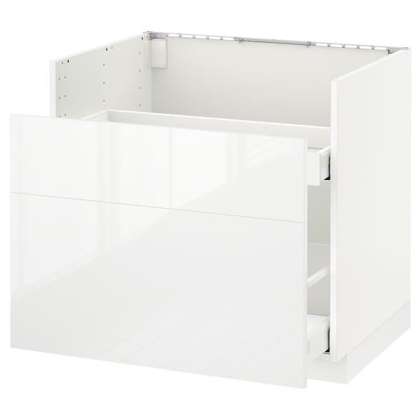 METOD base cb f HAVSEN snk/waste srt/2 fr white Maximera/Ringhult white 80 cm 60 cm 61.8 cm 70 cm