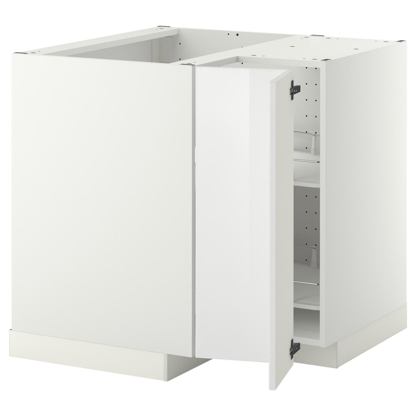 Metod Corner Base Cabinet With Carousel White Ringhult White Ikea