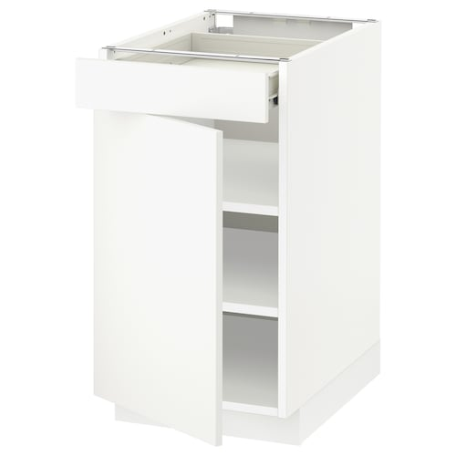 METOD / FÖRVARA base cabinet with drawer/door white/Häggeby white 40 cm 61.6 cm 60 cm 70 cm