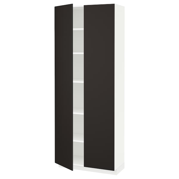 Metod High Cabinet With Shelves White Kungsbacka Anthracite Ikea
