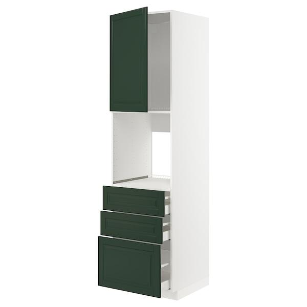 METOD / MAXIMERA high cab f oven w door/3 drawers white/Bodbyn dark green 60.0 cm 61.9 cm 228.0 cm 60.0 cm 220.0 cm