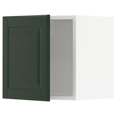 METOD Wall cabinet, white/Bodbyn dark green, 40x37x40 cm