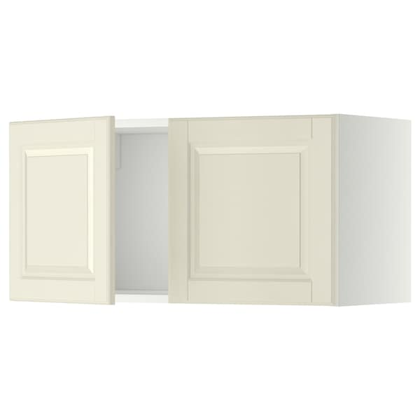 METOD Wall cabinet with 2 doors, white/Bodbyn off-white, 80x37x40 cm