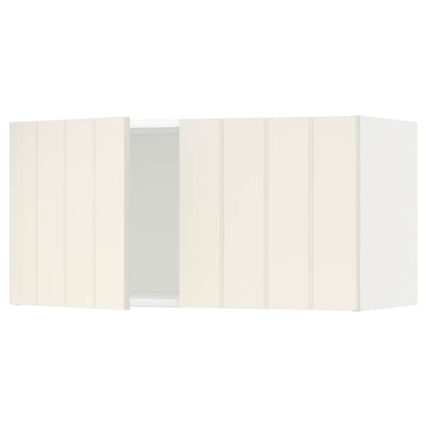 METOD Wall cabinet with 2 doors, white/Hittarp off-white, 80x37x40 cm