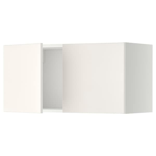 METOD Wall cabinet with 2 doors, white/Veddinge white, 80x37x40 cm