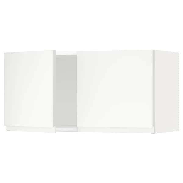 METOD wall cabinet with 2 doors white/Voxtorp matt white 80.0 cm 37.0 cm 39.1 cm 40.0 cm