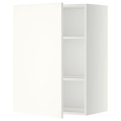 METOD Wall cabinet with shelves, white/Häggeby white, 60x37x80 cm