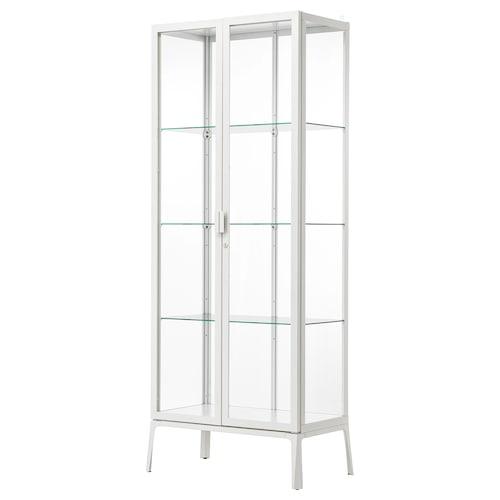 MILSBO glass-door cabinet white 73 cm 42 cm 175 cm 5 kg