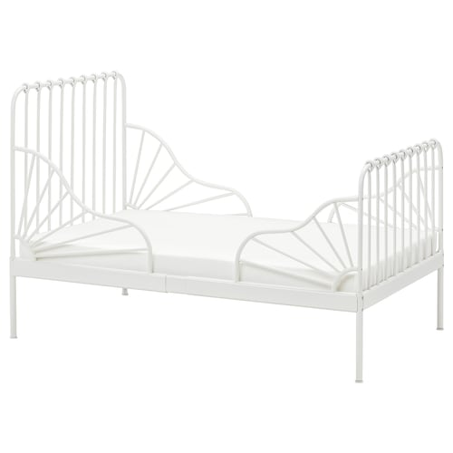 IKEA MINNEN Ext bed frame with slatted bed base