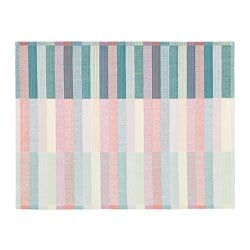 MITTBIT place mat, pink turquoise, light green