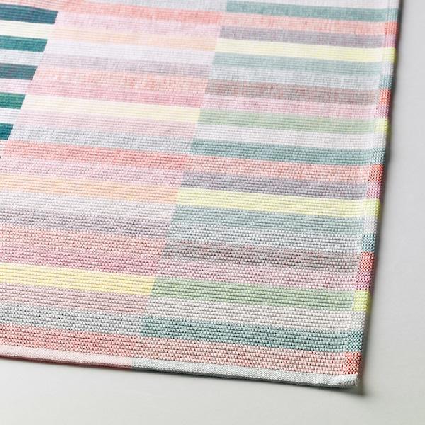 MITTBIT place mat pink turquoise/light green 45 cm 35 cm