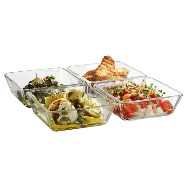 MIXTUR oven/serving dish clear glass 15 cm 15 cm 5 cm