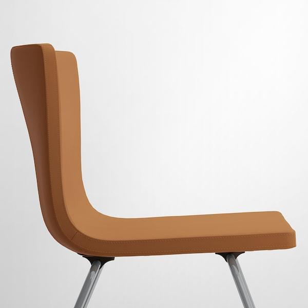 MÖRBYLÅNGA / BERNHARD table and 4 chairs oak veneer brown stained/Mjuk golden-brown 145 cm