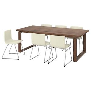 Chair: Bernhard chrome-plated/mjuk white.