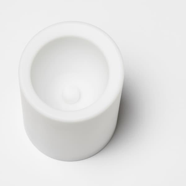 MOGNAD LED block candle battery-operated/white 10 cm 7 cm