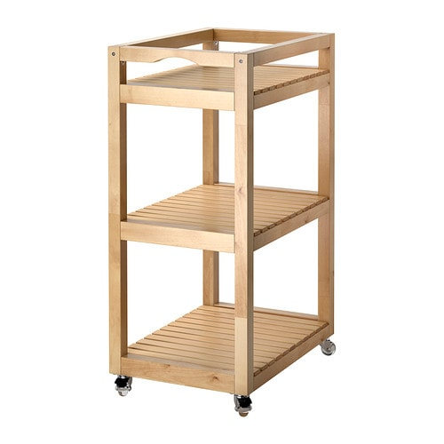 MOLGER Trolley IKEA Easy to move - castors included. Easy to pull/take out for better overview and access.