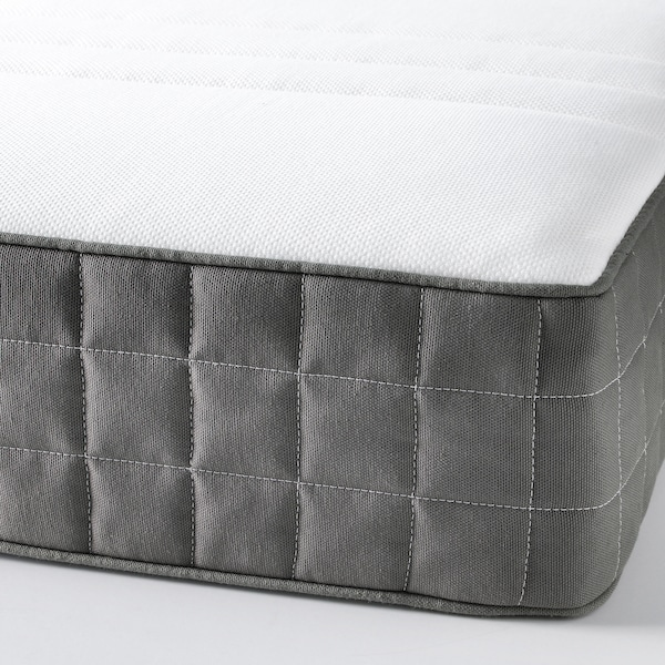 MORGEDAL Latex mattress, medium firm/dark grey, 150x200 cm
