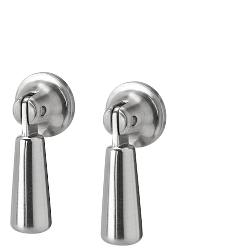 MOSSARYD drop handle stainless steel colour 49 mm 18 mm 21 mm 7 mm 2 pack