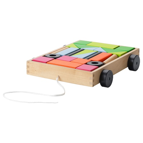 IKEA MULA 24 building blocks with wagon