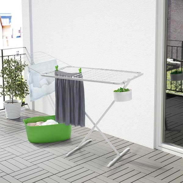 MULIG drying rack, in/outdoor white 173 cm 57 cm 103 cm