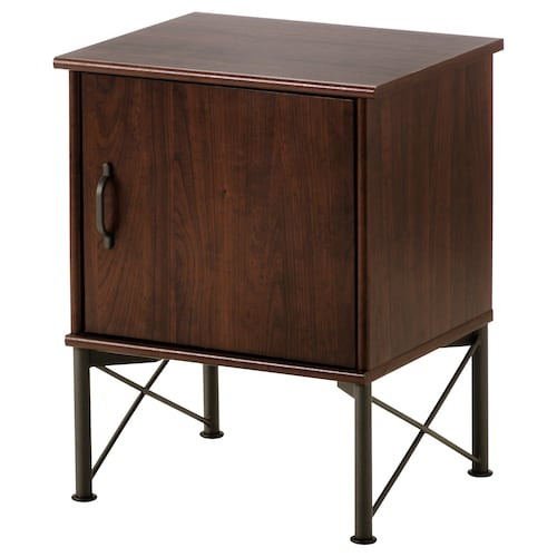 MUSKEN Bedside table, brown, 45x58 cm