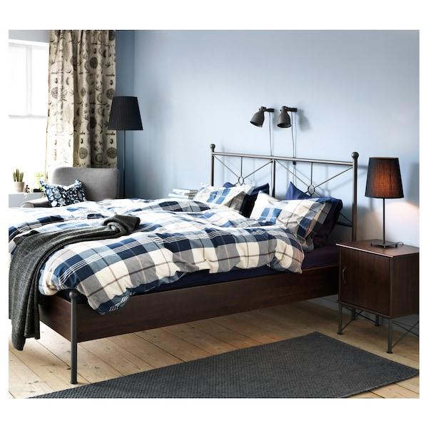MUSKEN Bedside table, brown, 45x58 cm
