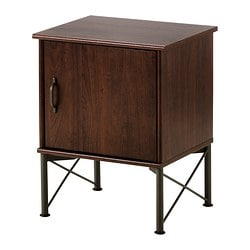 MUSKEN bedside table, brown