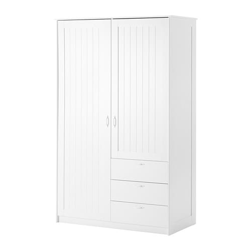 MUSKEN Wardrobe With 2 Doors 3 Drawers