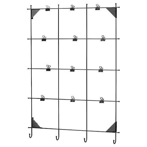 MYRHEDEN memo board with clips black 45 cm 62 cm