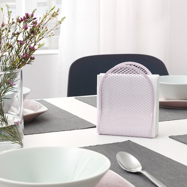 NÄTVERK Napkin holder, pink