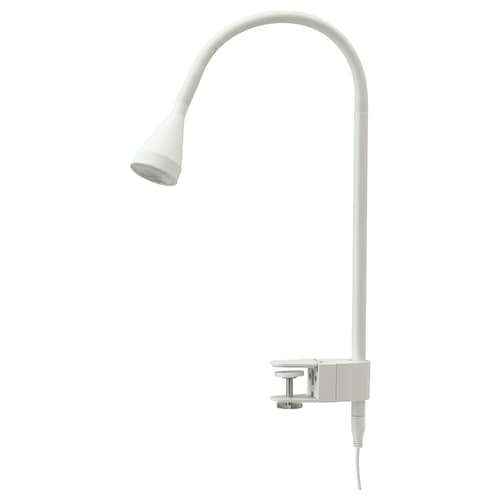 NÄVLINGE LED wall/clamp spotlight, white