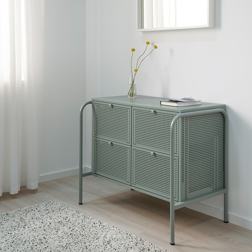 NIKKEBY Chest of 4 drawers IKEA This chest of drawers adds function and a unique look whether in the bedroom or hallway.