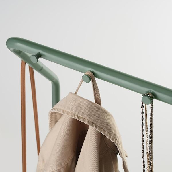NIKKEBY Clothes rack, grey-green, 40x142 cm