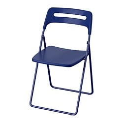 NISSE folding chair, dark blue-lilac