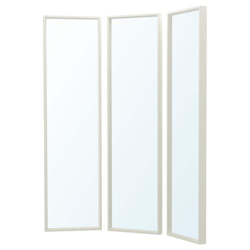 NISSEDAL mirror combination white 130 cm 40 cm 150 cm