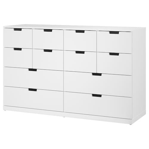 NORDLI chest of 12 drawers white 160 cm 47 cm 99 cm 37 cm