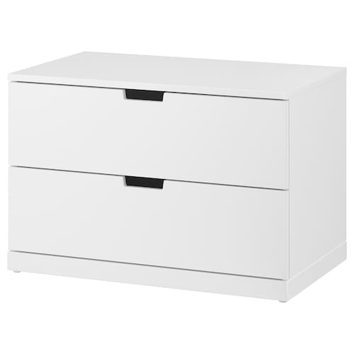 NORDLI chest of 2 drawers white 80 cm 47 cm 54 cm 37 cm