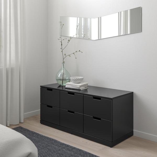 NORDLI Chest of 6 drawers, anthracite, 120x54 cm