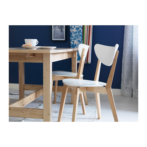 NORDMYRA Chair IKEA Stackable; saves space when not in use. Shaped back for enhanced seating comfort.