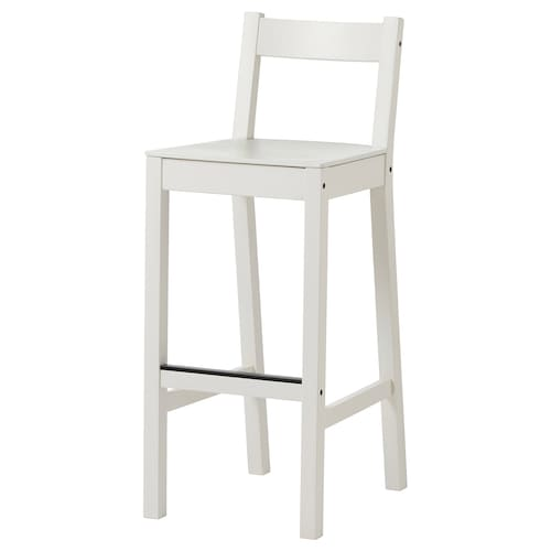 NORDVIKEN bar stool with backrest white 110 kg 40 cm 48 cm 101 cm 40 cm 34 cm 75 cm