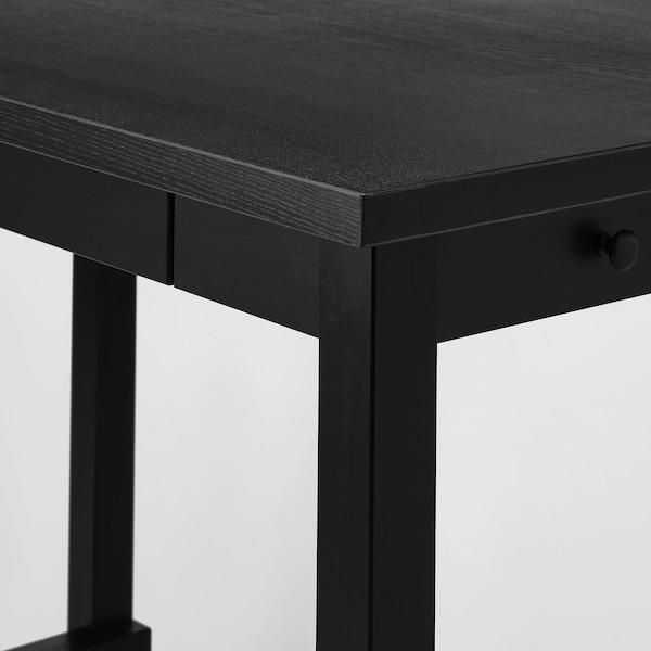 NORDVIKEN Bar table, black, 140x80 cm