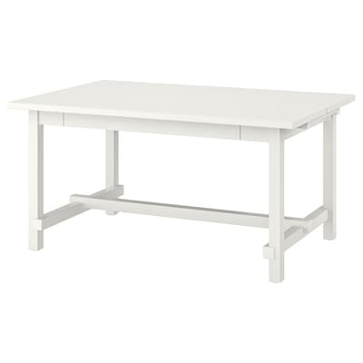 NORDVIKEN Extendable table, white, 152/223x95 cm